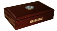 Saint Ambrose University Desk Box  - Masterpiece Medallion Desk Box