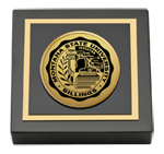 Montana State University Billings Paperweight - Gold Engraved Medallion Paperweight