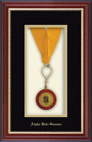 Alpha Beta Gamma Medal Frame - Commemorative Medal Frame in Newport