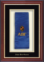Alpha Beta Gamma Stole Frame - Commemorative Stole Frame in Newport