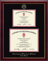 University of Wisconsin Madison Diploma Frame - Double Diploma Frame in Gallery