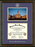 Kansas State University Diploma Frame - Campus Scene Edition Diploma Frame in Brentwood