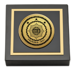 Phi Kappa Phi Paperweight - Gold Engraved Medallion Paperweight