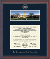 Pennsylvania State University Diploma Frame - Campus Scene Edition Diploma Frame - Old Main in Kensit Gold