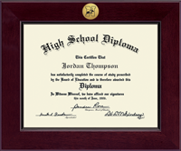 Newtown High School in Connecticut Diploma Frame - Century Gold Engraved Diploma Frame in Cordova