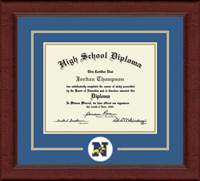 Newtown High School in Connecticut Diploma Frame - Lasting Memories Circle Logo Diploma Frame in Sierra