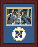 Newtown High School in Connecticut Photo Frame - Lasting Memories Circle Logo Photo Frame in Sierra
