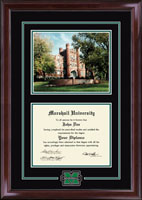 Marshall University Diploma Frame - Campus Scene Edition Diploma Frame in Encore