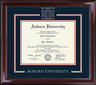 Auburn University Diploma Frame - Spirit Medallion Diploma Frame in Encore