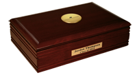 Christopher Newport University Desk Box  - Gold Engraved Medallion Desk Box