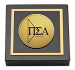 Pi Sigma Alpha Paperweight - Gold Engraved Medallion Paperweight