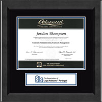 National Association of Legal Assistants & Paralegals Certificate Frame - Lasting Memories Banner Certificate Frame in Arena