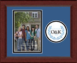 Omicron Delta Kappa Photo Frame - 4'x6' - Lasting Memories Circle Logo Photo Frame in Sierra