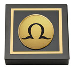Order of Omega Paperweight - Gold Engraved Medallion Paperweight