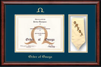 Order of Omega Certificate Frame - Stole Certificate Frame in Southport
