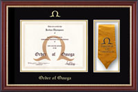 Order of Omega Certificate Frame - Stole Certificate Frame in Newport