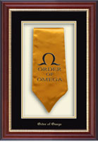 Order of Omega Stole Frame - Commemorative Stole Shadow Box Frame in Newport
