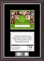 The Woman's Advantage Calendar Frame - 2014 'Quote of The Day' Calendar Page Frame with Silvertone Plate in Devon