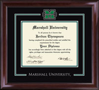 Marshall University Diploma Frame - Spirit Medallion Diploma Frame in Encore