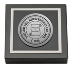 Newberry College Paperweight - Silver Engraved Medallion Paperweight