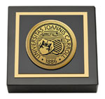 John Carroll University Paperweight - Gold Engraved Medallion Paperweight