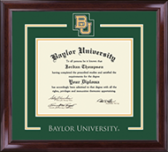 Baylor University Diploma Frame - Spirit Medallion Diploma Frame in Encore