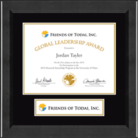 Friends of Todai, Inc. Certificate Frame - Lasting Memories Banner Certificate Frame in Arena