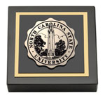 North Carolina State University Paperweight - Black Enamel Masterpiece Medallion Paperweight