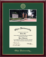 Ohio University Diploma Frame - Campus Scene Diploma Frame in Galleria