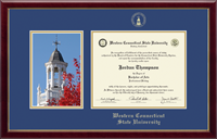 Western Connecticut State University Diploma Frame - Campus Scene Edition Diploma Frame in Galleria