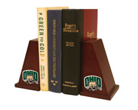 Ohio University Bookend - Brass Spirit Medallion Bookends