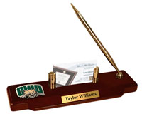 Ohio University Desk Pen Set - Brass Spirit Medallion Desk Pen Set