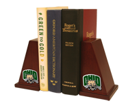 Ohio University Bookend - Pewter Spirit Medallion Bookends