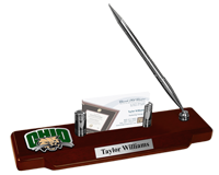 Ohio University Desk Pen Set - Pewter Spirit Medallion Desk Pen Set