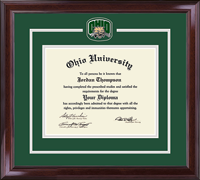 Ohio University Diploma Frame - Pewter Spirit Medallion Diploma Frame in Encore