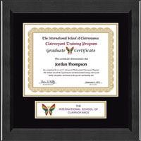 The International School of Clairvoyance Certificate Frame - Lasting Memories Banner Certificate Frame in Arena