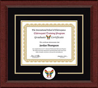 The International School of Clairvoyance Certificate Frame - Lasting Memories Circle Logo Certificate Frame in Sierra