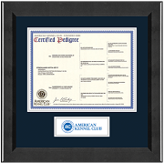 American Kennel Club Certificate Frame - Lasting Memories Banner Pedigree Frame in Arena