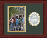 The University of Vermont Photo Frame - Lasting Memories Circle Logo Photo Frame in Sierra