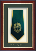 The University of Vermont Diploma Frame - Commemorative Stole Shadow Box Frame in Newport