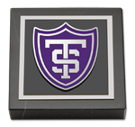 University of St. Thomas Paperweight - Shield Masterpiece Medallion Paperweight