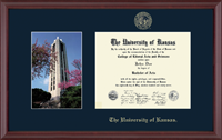 The University of Kansas Diploma Frame - Campus Scene Diploma Frame in Camby