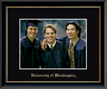 University of Washington Photo Frame - Embossed Photo Frame in Onexa Gold