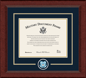 United States Coast Guard Certificate Frame - Lasting Memories Circle Logo Certificate Frame in Sierra
