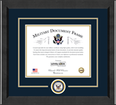 United States Navy Certificate Frame - Lasting Memories Circle Logo Certificate Frame in Arena