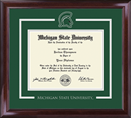 Michigan State University Diploma Frame - Spirit Medallion Diploma Frame in Encore