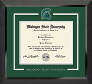Michigan State University Diploma Frame - Spirit Medallion Diploma Frame in Eclipse