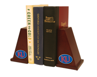 The University of Kansas Bookends - Pewter Spirit KU Medallion Bookends