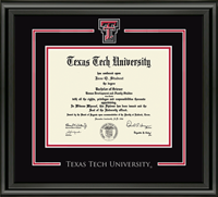 Texas Tech University Diploma Frame - Spirit Medallion Diploma Frame in Midnight