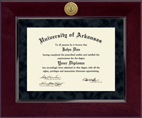 University of Arkansas Diploma Frame - Millennium Gold Engraved Diploma Frame in Cordova